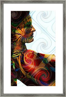 Lady Masquerade Framed Print