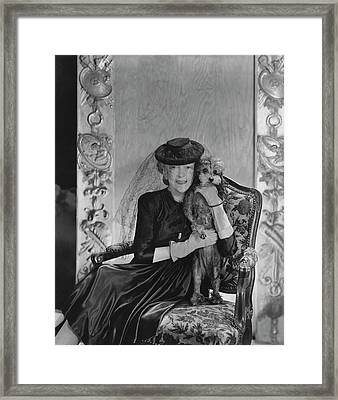 Lady Mendl With Her Poodle Framed Print by Horst P. Horst