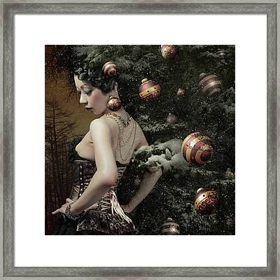 Lady Of December\'s Tree Framed Print