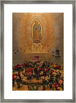 Lady Of Guadalupe Framed Print by Susan Candelario