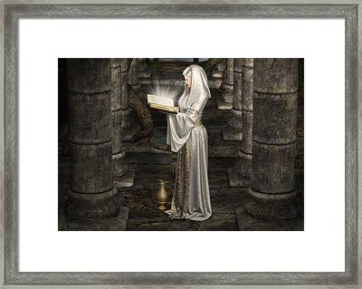Lady Of Light Framed Print by Rachel Dudley