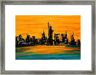 Lady Of New York Framed Print by Lourry Legarde