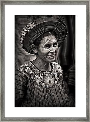 Lady Of Santiago Atitlan Framed Print by Tom Bell