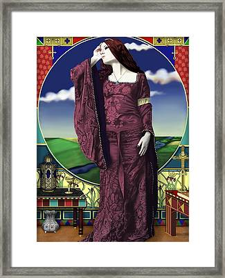 Lady Of Shallot Framed Print by Andrew Harrison