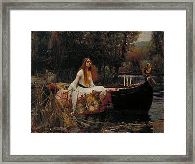 Lady Of Shalott Framed Print by John William Waterhouse