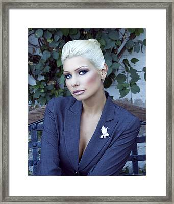 Lady Of Solitude Palm Springs Framed Print