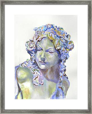 Lady Of Stone Framed Print