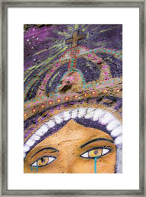 Framed Print featuring the photograph Lady Of Tears by Steven Bateson