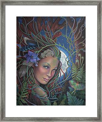 Lady Of The Forest Framed Print by Susan Helen Strok
