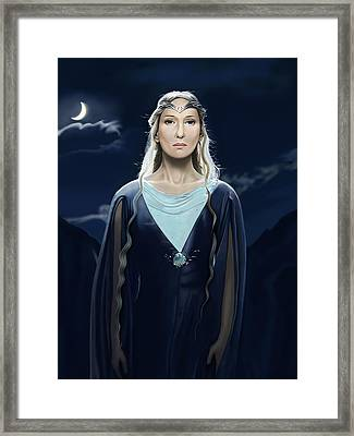 Lady Of The Galadrim Framed Print by Andrew Harrison