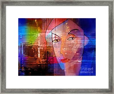 Lady Of The Night Framed Print by Lutz Baar