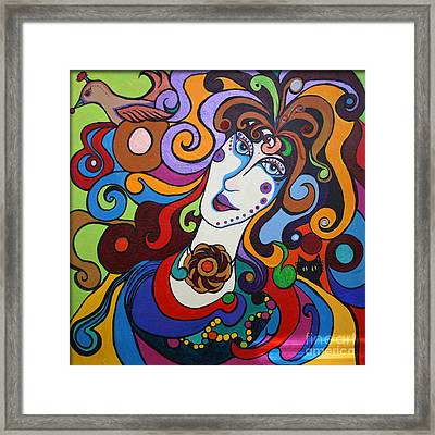 Framed Print featuring the painting Lady Of The Opera  Varga by Alison Caltrider