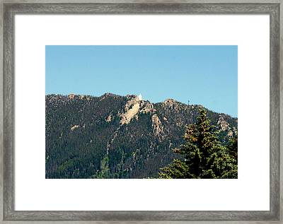 Lady Of The Rockies Butte Montana Framed Print by Larry Stolle