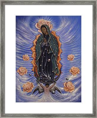 Lady Of The Roses Framed Print by Ricardo Chavez-Mendez
