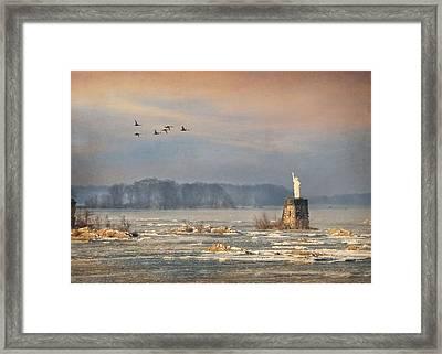 Lady Of The Susquehanna Framed Print by Lori Deiter