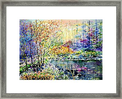 Lady Of Wood And Pond Framed Print