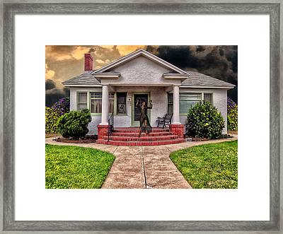 Lady On Fire Framed Print by Bob Winberry