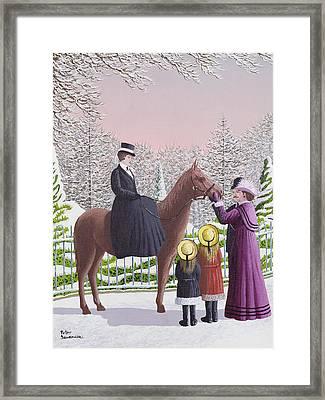 Lady On Horseback Framed Print by Peter Szumowski