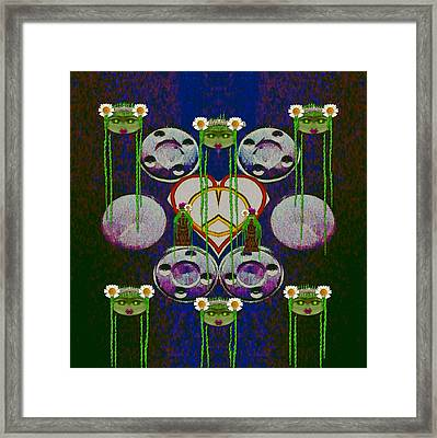 Lady Panda Welcomes Spring In Love And Light And Peace Framed Print
