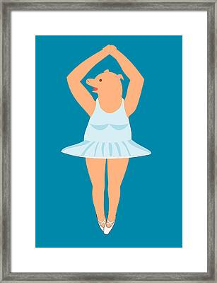 Lady Pig In A Tutu Framed Print
