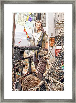 Lady Pirate Of Penzance Framed Print