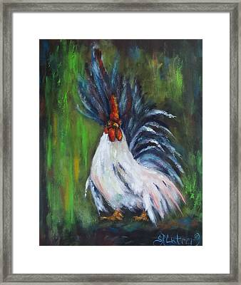 Lady Pleaser, Rooster  Framed Print