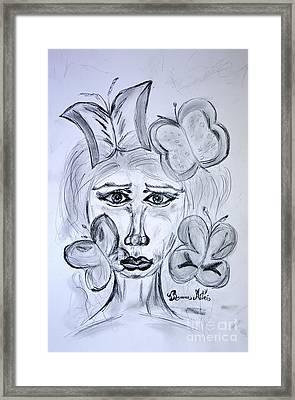 Lady Queen Of Butterflies Framed Print