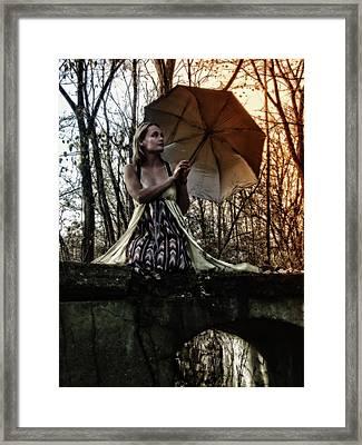 Lady Rain Framed Print