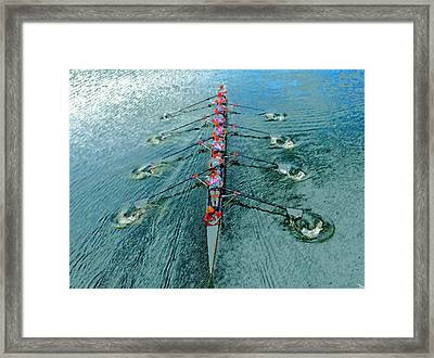 Lady Scullers Framed Print