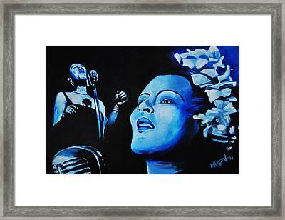 Lady Sings The Blues Framed Print by Ka-Son Reeves