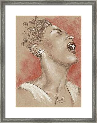 Lady Sings The Blues Framed Print by P J Lewis