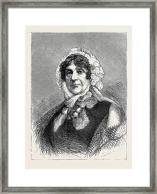 Lady Smith Of Lowestoft At The Age Of 94 Framed Print by English School