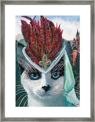 Lady Snowshoe Framed Print