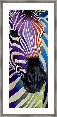 Lady Stripes Framed Print