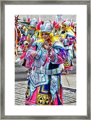 Lady Viking Mummer Framed Print