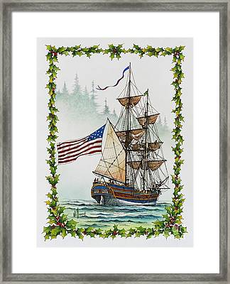 Lady Washington And Holly Framed Print