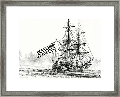 Lady Washington At Friendly Cove Framed Print