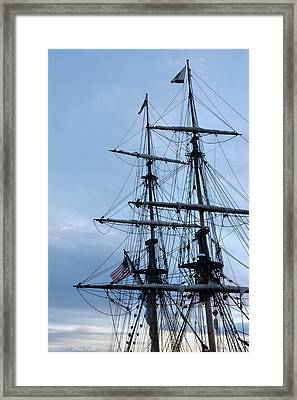 Lady Washington's Masts Framed Print by Heidi Smith