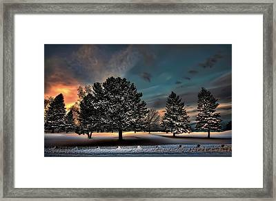 Lady Winter  Bringing A Cold Snap Framed Print by Jeff S PhotoArt