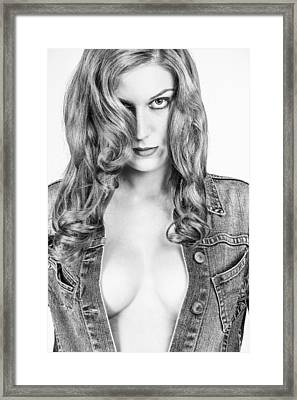 Lady With A Jeans Jacket Framed Print by Ralf Kaiser
