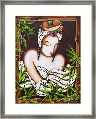 Lady With Fruit Framed Print