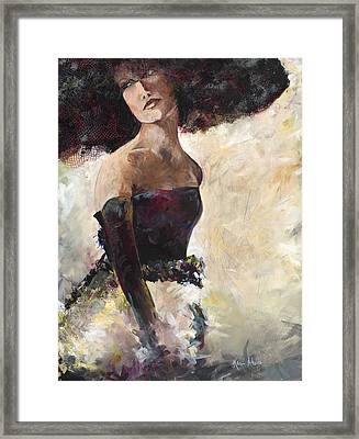 Lady With The Netted Hat Framed Print by Karen Ahuja