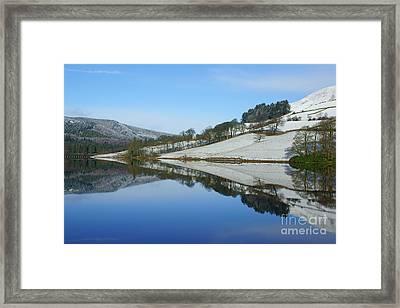 Ladybower Winter Reflections Framed Print by David Birchall