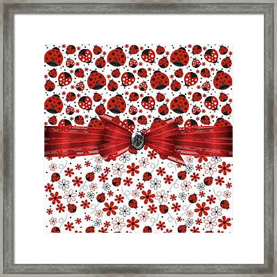Ladybug Magic Framed Print by Debra  Miller