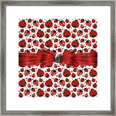 Ladybug Obsession  Framed Print by Debra  Miller