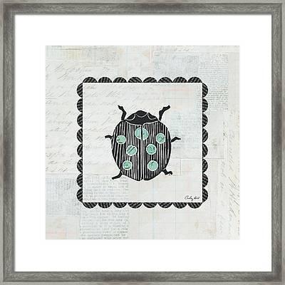 Ladybug Stamp Framed Print by Courtney Prahl