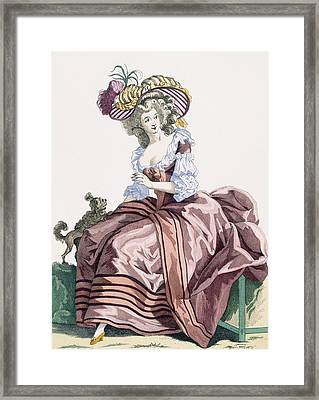 Ladys Elegant Caramel Coloured Satin Framed Print