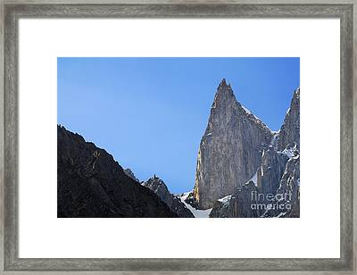 Ladys Finger Peak In Pakistan Framed Print by Robert Preston
