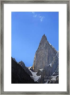 Ladys Finger Peak In The Karakorum Pakistan Framed Print by Robert Preston