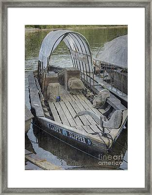 Framed Print featuring the photograph Ladys Slipper by Pete Hellmann
